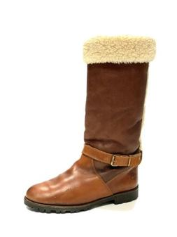 sheepskin shearling leather tall boots womens size