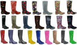 Shoes 18 Womens Rain Boots  Rubber Pull On Garden    8 Color