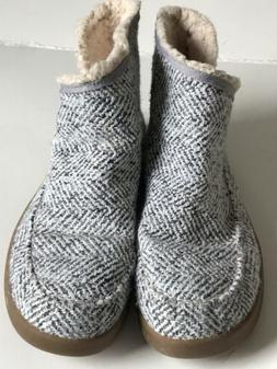 """Sanuk Shoes Boots Womens 10 Tweed """"Nice Bootah"""" Ankle Bo"""