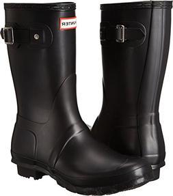 Hunter Women's Original Short Rain Boot,Black Matte,8 B US
