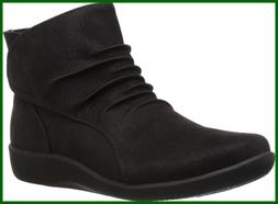 CLARKS Women's Sillian Sway Ankle Bootie, Black, 9 M US