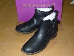Rampage Jordan Women's Black Leather Zip Up / Buckle Ankle