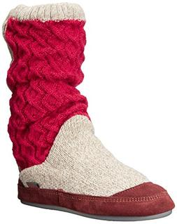 Women's Acorn Slouch Slipper Boot, Size Small - Red