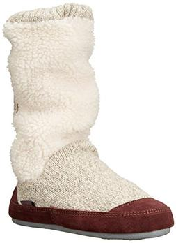 Women's Acorn Slouch Slipper Boot, Size X-Large - White