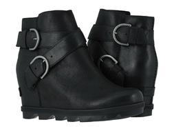 Sorel Women's Joan of Arctic Wedge II Buckle Leather Boots B