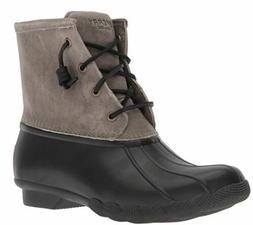 Sperry Top-Sider Women's Saltwater Rain Boot Black/Grey 7.5