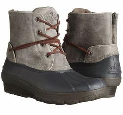 SPERRY TOP SIDER Women's Saltwater Wedge Tide Duck Boot Grey