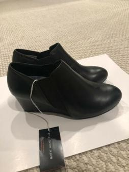 Vionic Stanton Womens ankle boots bootie wedge black size 5