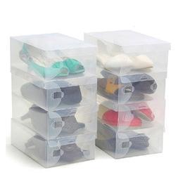 Thinp Shoe Storage Foldable Clear Shoe Box Set of 10