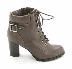 Style & Co. Womens Caitlin Leather Closed Toe Ankle Combat B