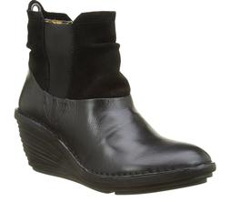 Fly London SULA BLACK Womens Boots Heel Wedge US 10-10.5 EU