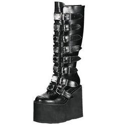 "DEMONIA Swing-815 5 1/2"" P/F Closed Toe Knee-High Boots"