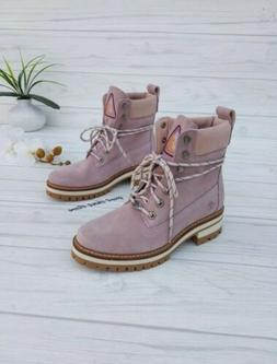 SZ 6 TIMBERLAND BOOTS WOMEN'S ROSE PINK LEATHER CASUAL BOOTS