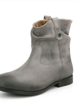 sz 6/37 new Birkenstock boots ankle Sarnia Womens Grey Oiled