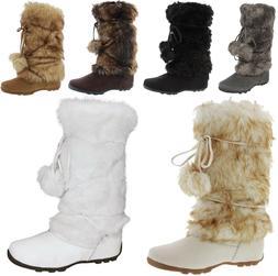 Talia-Hi Women Mukluk Faux Fur Boots Booties Mid Calf Winter