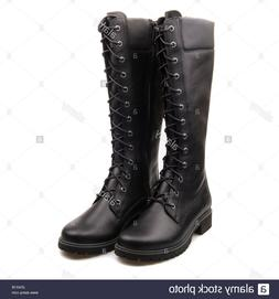 Timberland Tall Side Zip Lace-Up Boots-BLACK