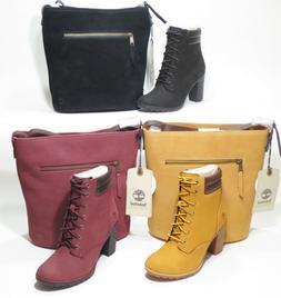 Timberland Tillston Combo High Heel Boots With matching Hobo
