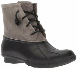 Sperry Top-Sider Women's Saltwater Rain Boot, Black/Grey