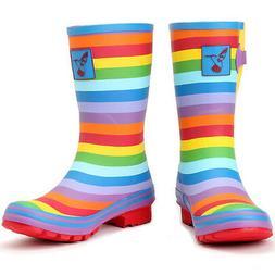 Evercreatures UK Brand Rainbow Rubber Rain Boots Wellington