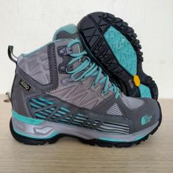 The North Face Ultra Gore-Tex Grey Teal Hiking Boots Womens
