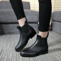 unisex short rain boots waterproof slip on