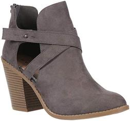 Rampage Vedette Womens Side Cut Out Chunky Stacked Heel Ankl