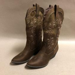 Rampage Vinnmo Women's Cowboy Boots, Whiskey Fabric, Multipl