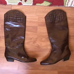 Vintage Carrano Women's Italy Brown Tall Boots Sz 39.5 9N 8.