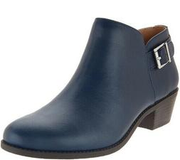 Vionic Ankle Boots with Buckle - Millie - Navy