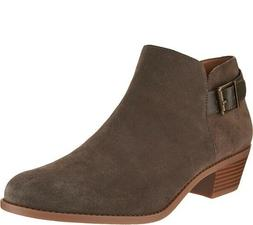 Vionic Orthotic Suede Ankle Boots with Buckle - Millie - Oli