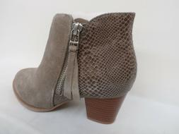 Vionic Suede Ankle Boots - Anne GREIGE SNAKE Size 37