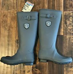 Kamik Waterproof Rubber Rain Boots, Women's Size 7 Grey-New