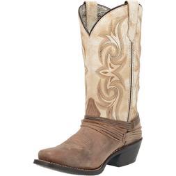 Laredo Western Style Women's Boots Sand White Myra Cowboy Sq