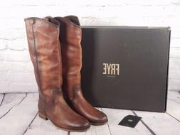 Frye - Wide Calf Leather Tall Boots - Melissa Button2 - Cogn
