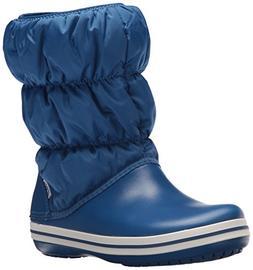 Crocs Winter Puff Boot Women Snow Blue Jean, 9 M US