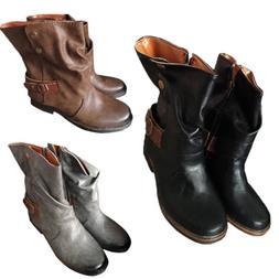 Winter Woman Casual Horse Riding Ankle Boots Ladies Vintage