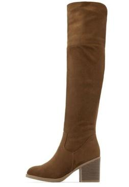 Top Moda Woman Over The Knee Boots Cognac 8 Bloggers