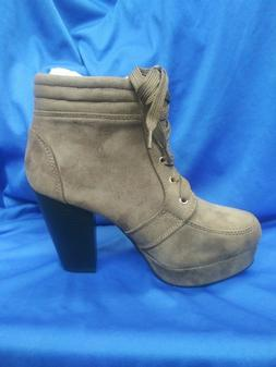 WOMAN'S SUEDE TAUPE THICK HEEL FOREVER LINK CAMILLE-86 SIZE