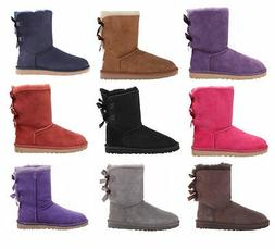UGG Australia Women Bailey Bow Ankle High Boots Winter Snow