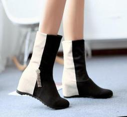 Women Casual Multi-Color Ankle Boots Wedge Heels Platform X1