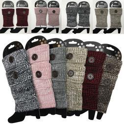 Women Crochet Knit Boot Socks Cuffs Toppers Short Ankle Leg