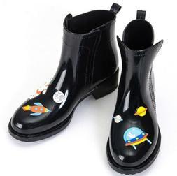 Women Fashion PVC Rain Boots Female Waterproof Ankle Rainboo