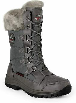 NORTIV 8 Women Insulated Waterproof Snow Boots Warm Faux Fur