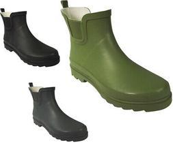 Norty Women Low Ankle Rain Boots Rubber Snow Rainboot Garden