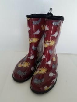 Sloggers Women's Waterproof Comfort Boot 6 Chicken Red
