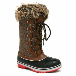 DREAM PAIRS Womens Snow Boots Waterproof Mid Calf Hiking Sno