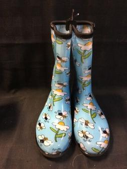 "SLOGGERS Women's 10"" Rain & Garden Boots Waterproof Bee Blue"