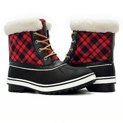 GLOBALWIN Women's 1632 Black Grey Snow Boots 8 1727black/Red