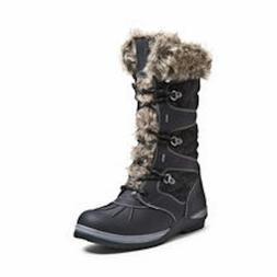 GLOBALWIN Women's 1730 Winter Snow Boots, Black, 7.5