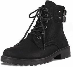 Women Combat Military Boots Boots Booties Lace Up Block Heel